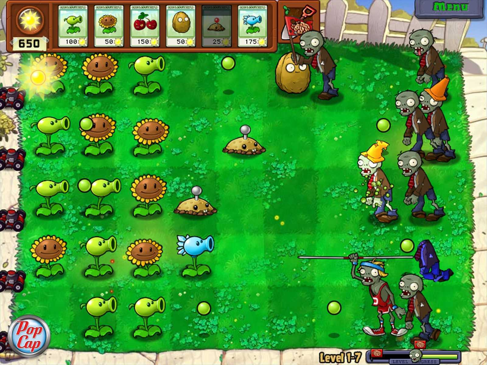 Растения против зомби / Plants vs. Zombies v1.7.0.0 (2010/PC/RUS
