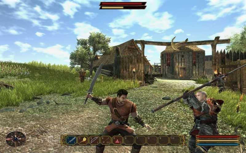 Скриншоты из игры с патчем Gothic 3 Отвергнутые боги 1.07. Навигация
