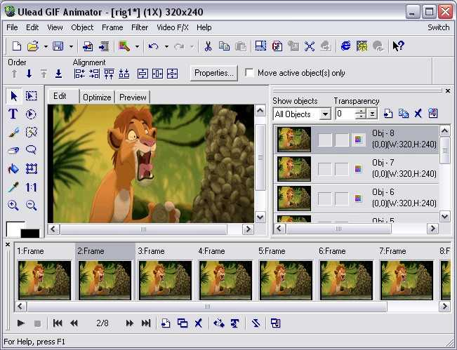 Ulead GIF Animator 5.0 Produce slick animated content for the web!