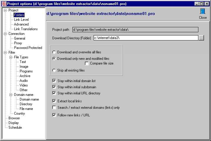 Скриншоты к WebSite eXtractor 9.60.