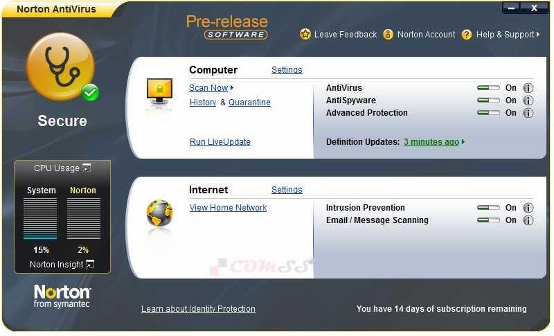 Скачать файлы обновлений Symantec AntiVirus для Macintosh Norton AntiVirus