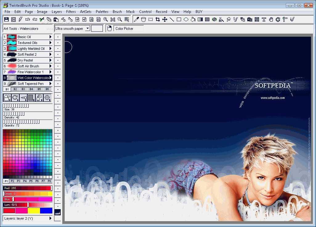 Описание: TwistedBrush Pro Studio - графический редактор для людей Download
